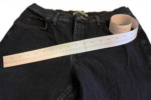 Printed measuring tape illustration